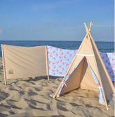 Zestaw plażowy - parawan + namiot - Wakacyjne przygody