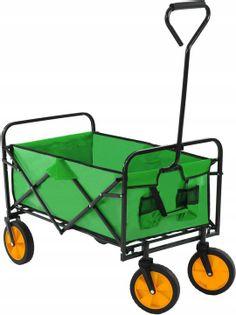 Wózek Taczka Plażowy Składany Transportowy Ogrodowy Zielony