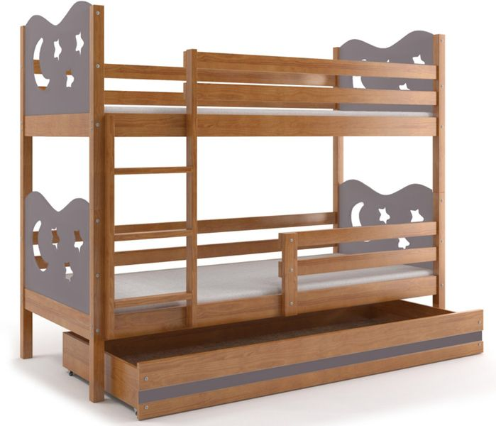 łóżko łóżka Dla Dzieci Piętrowe Miko Meble Drewniane 200x90