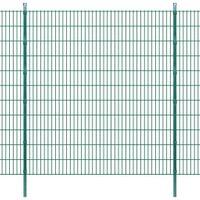 2D Panele i słupki ogrodzeniowe 2008x2230 mm 26 m zielone VidaXL