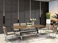 Drewniany stół stalowa podstawa 220 x 110 x 76 cm A-832