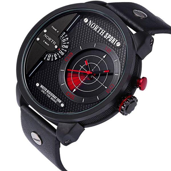 43fa221cf7c750 Zegarek męski North 6012 wodoszczelny, 2 czasy, z radarem, pudełeczko  zdjęcie 4