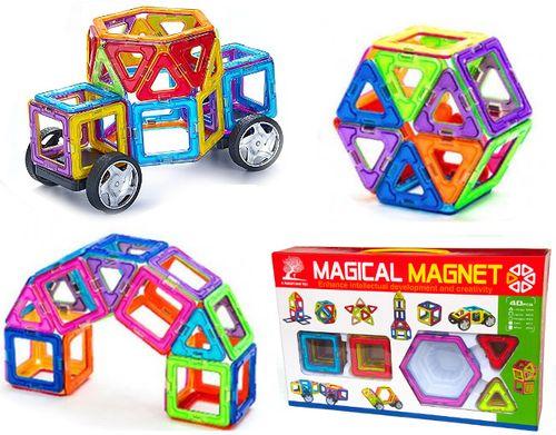 Klocki magnetyczne MAGICAL MAGNET NO.702 40 elementów Y44 na Arena.pl
