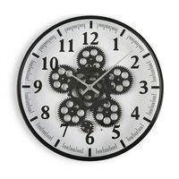 Zegar Ścienny Metal Drewno MDF/Szkło (6,5 x 36 x 36 cm)