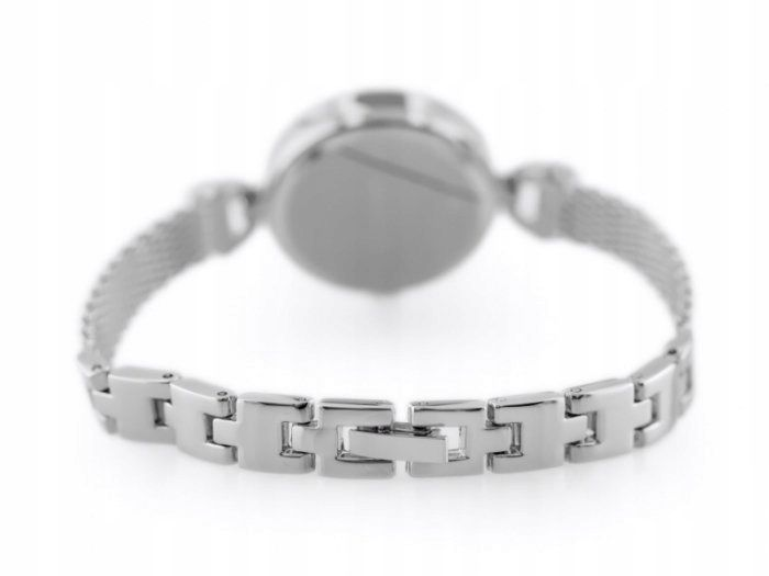 Srebrny zegarek damski bransoleta jordan kerr - pt zdjęcie 6