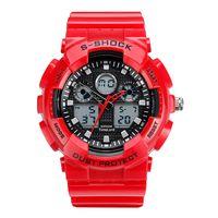 Męski Elektroniczny Zegarek S-SHOCK Trzy Kolory Biały Czerwony Czarny
