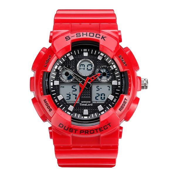 Męski Elektroniczny Zegarek S-SHOCK Trzy Kolory Biały Czerwony Czarny zdjęcie 5