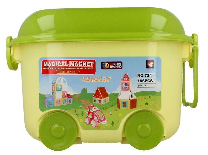 Edukacyjne klocki magnetyczne MAGICAL MAGNET no.724 106 elementów Y39 zdjęcie 4