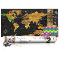Mapa zdrapka - Złota mapa - plakat (wersja angielska)