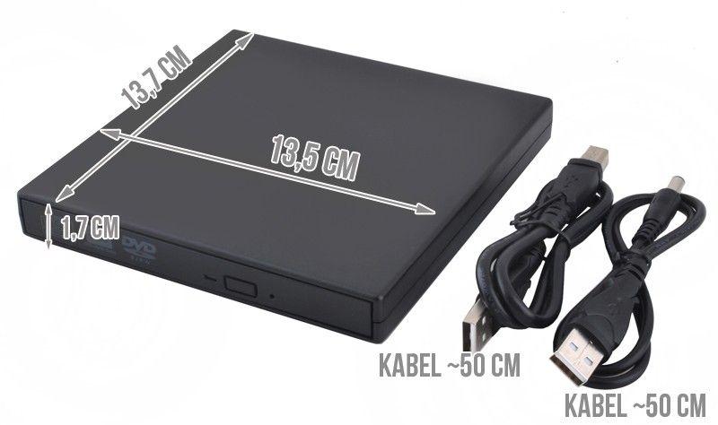Napęd Zewnętrzny Nagrywarka DVD RW CD combo na USB 2320 zdjęcie 2