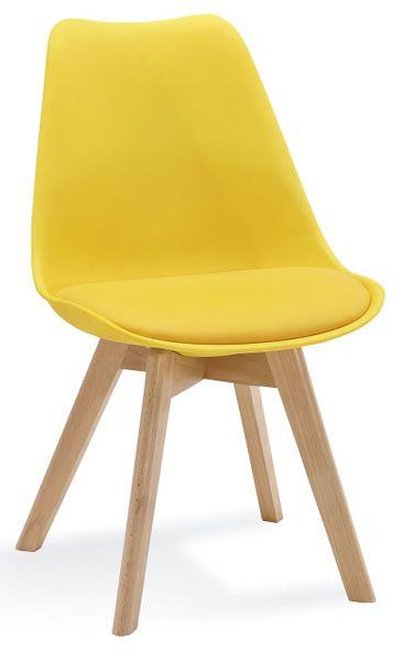 Krzesło FIORD KRIS skandynawskie żółte HIT zdjęcie 1