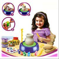 Koło garncarskie edukacyjne dla dzieci + farbki