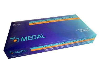 Torebki do sterylizacji 190 x 330 Medal 200 sztuk