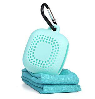 Mały ręcznik sportowy, podróżny - składany z zaczepem!