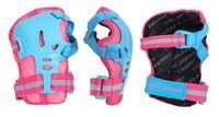 Ochraniacze na rolki, hulajnogę dla dorosłych komplet CR368 różowo-niebieski S
