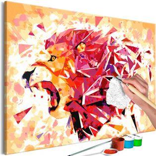 Obraz do samodzielnego malowania - Abstrakcyjny lew