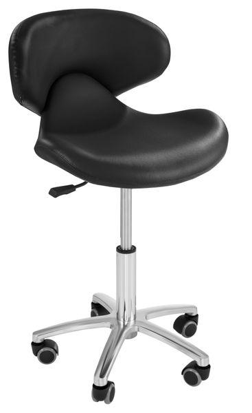 Krzesło kosmetyczne - czarne Physa Andria Black zdjęcie 2