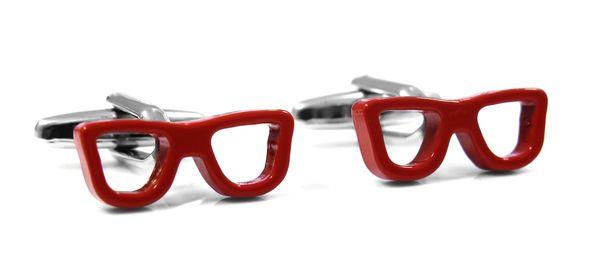 Spinki do mankietów - czerwone okulary U88