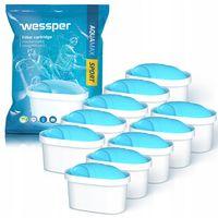 Wessper AquaMax Sport - filtry wkłady wody do dzbanka 10 sztuk