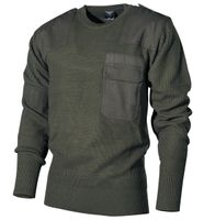 Sweter BW wojskowy oliwkowy długi