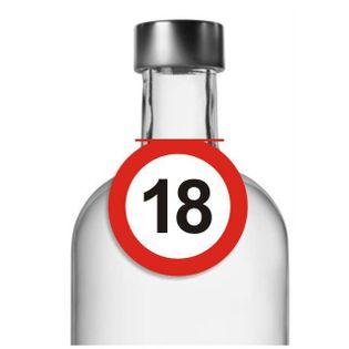 """Zawieszki na alkohol, """"Urodziny 18 Traffic Birthday"""", 10 szt"""