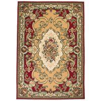 Orientalny dywan, 120 x 170 cm, czerwono-beżowy