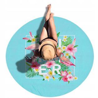 Ręcznik Plażowy Duży Summer Okrągły Koc 150 cm