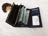 ROVICKY portfel skórzany damski lakierowany RFID P085 czarny zdjęcie 6