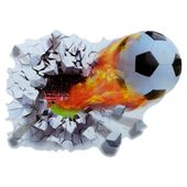 Naklejki na ścianę ścienne Piłka 3D Nożna WS-0145