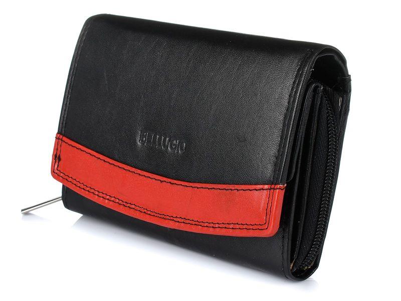 Bellugio elegancki damski portfel skórzany na zamek K82 zdjęcie 1