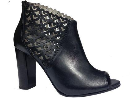 Botki EKSBUT 4831 czarny Rozmiar obuwia - 37, Kolor - Czarny