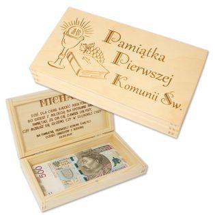 Pudełko Na Pieniądze Pamiątka Pierwszej Komunii