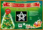 Figura Gwiazda LED • średnica 100 cm •  Biały Zimny błyska Biały