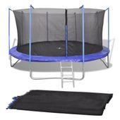Siatka do okrągłej trampoliny 4,57 m, PE, czarna