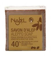 Mydło z Aleppo, 40% oleju laurowego, 60% oliwy z oliwek, 185 g, Najel