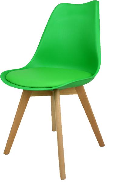 Skandynawskie krzesło KRIS FIORD z poduszką białe BUKOWE NOGI na Arena.pl