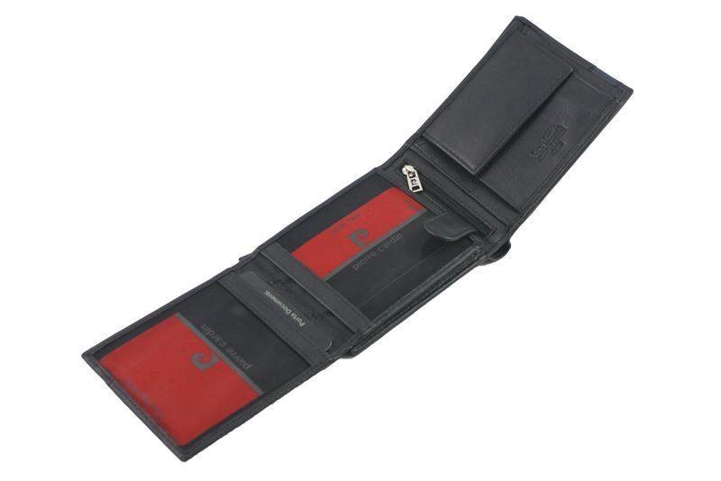 ffb8a5691520f Skórzany portfel męski Pierre Cardin RFID czarny z niebieską wstawką  zdjęcie 7