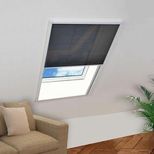 Plisowana moskitiera okienna, aluminium, 60 x 160 cm