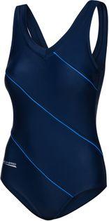 Kostium pływacki SOPHIE Roz.48-54 Rozmiar - Stroje damskie - 50(5XL), Kolor - Stroje damskie - Sophie - 49 - granatowy / niebieski piping