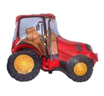 """Balon foliowy """"Traktor"""", czerwony, FLEXMETAL, 14"""" SHP"""