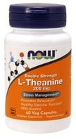 NOW FOODS L-Theanine 200mg 60kap L-Teanina