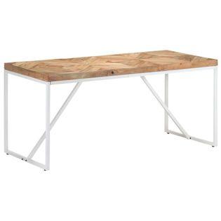 Stół jadalniany, 160x70x76 cm, lite drewno akacjowe i mango