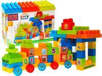 Duże kolorowe KLOCKI 50 elem. Funny Blocks ZA1850