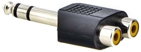 Przejściówka / adapter stereo JACK 6,3mm męski na 2x RCA Chinch żeński