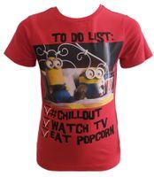 T-Shirt Minions Red 8Y r128 Licencja Illumination (QE1076)