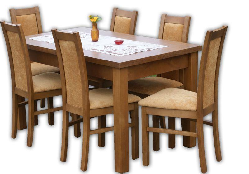 6 Krzeseł I Stół 140x80 Rozkładany Polecam Arenapl