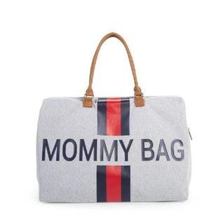 MOMMY BAG CHILDHOME TORBA PODRÓŻNA PASKI GRANAT-CZERWON #T1