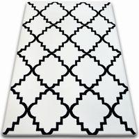 Dywan SKETCH - F343 biało/czarny koniczyna marokańska trellis biały 80x150 cm