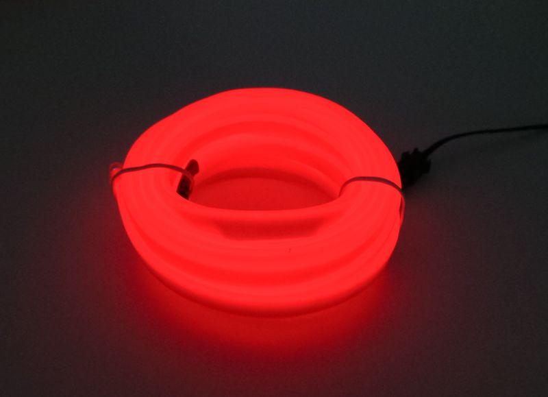 Światłowód EL WIRE Ambient Taśma LED 5m czerwony na Arena.pl