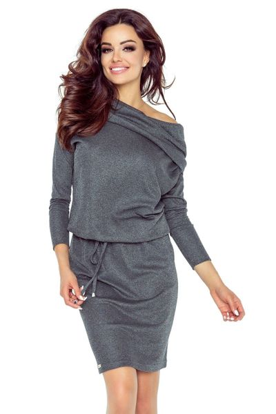 93ae8fa9e1 79 03 VIVA uniwersalna i wygodna sukienka (grafit błysk) Rozmiar - XL  zdjęcie 1 ...